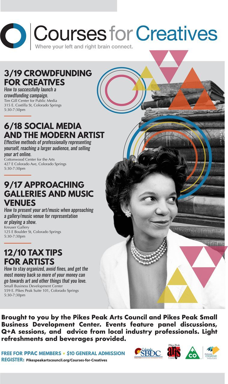 Pikes Peak Arts Council - Courses for Creatives